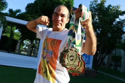 Marcelo Zen faturou três medalhas no brasileiro de kung fu 2015. Foto: FCO Fontenele/O POVO