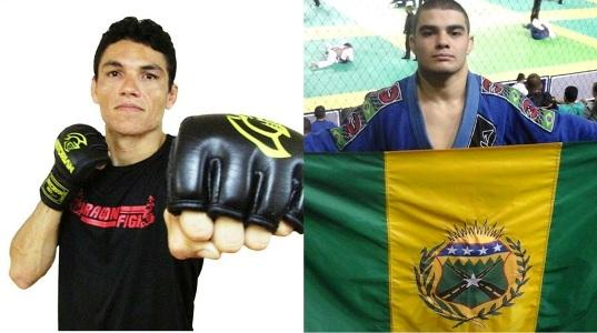 Carlos Eduardo (esquerda) e Ronaico representam o Ceará no Shooto. Fotos: Arquivo Pessoal