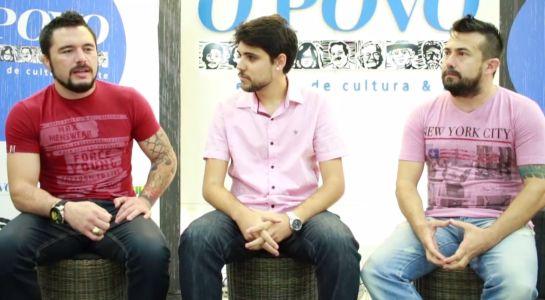 Rony Jason e Junior Gaspar foram entrevistados por Lucas Mota na sede Grupo de Comunicação O POVO | FCO Fontenele/O POVO