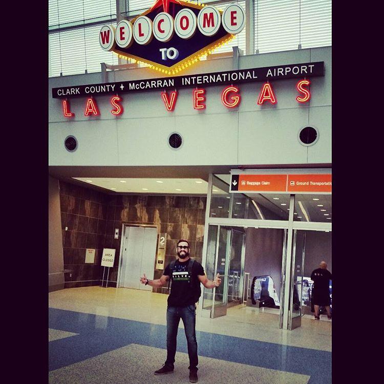 Pepey curtindo a visita em Las Vegas. Foto: Arquivo Pessoal