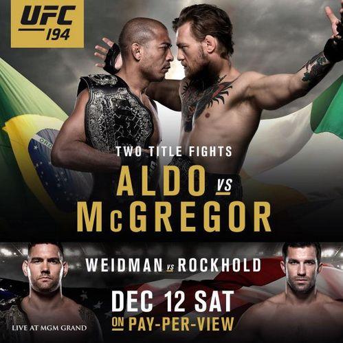 Pôster oficial do UFC 194 | Foto: divulgação/UFC