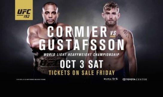 Pôster do UFC 192 com Cormier e Gustafsson   Foto: UFC/Divulgação