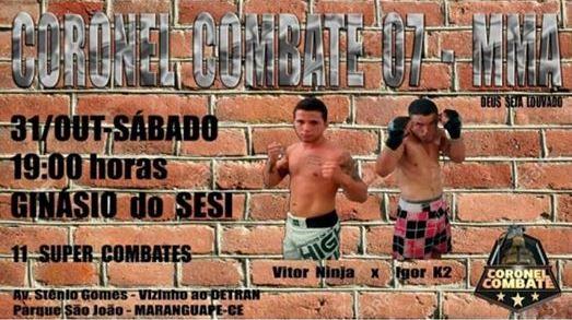 Cartaz de divulgação do Coronel Combat