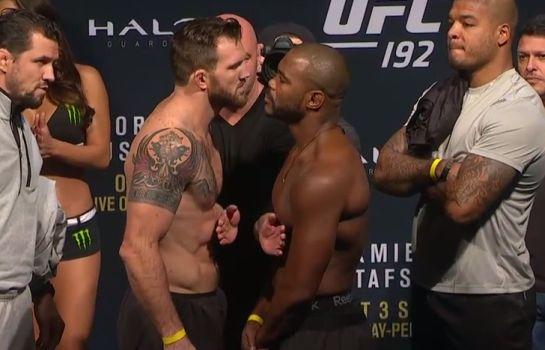 Bader e Evans frente a frente | Foto: UFC/Reprodução