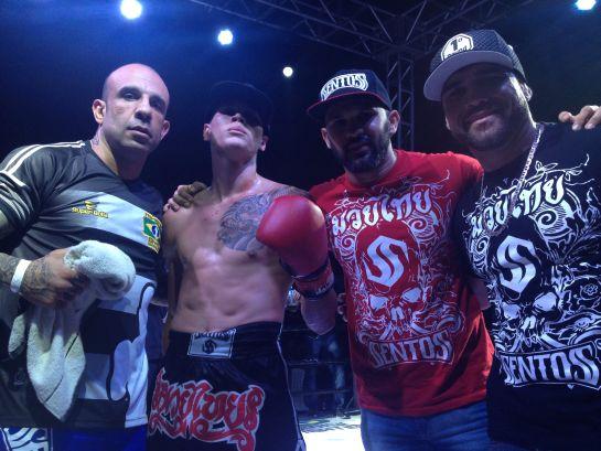 Da esq. para direita: Alex Chadud, Marven Oliveira, Helson Nativo e Maurílio Touro. Foto: Lucas Mota