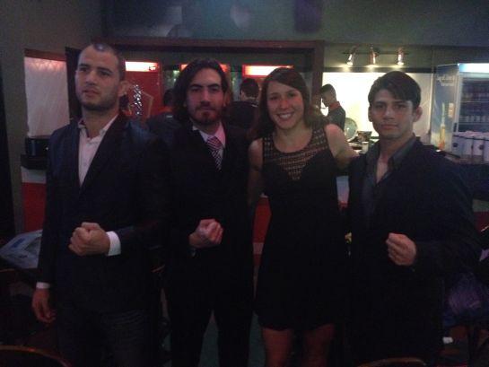 Quarteto da Team Nogueira: Pachu, Bilharinho, Juliana e Alan | Foto: Lucas Mota