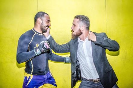 Delan (esquerda) e Tiago são parceiros de treino e lutadores de MMA. Foto: Cojack Matias