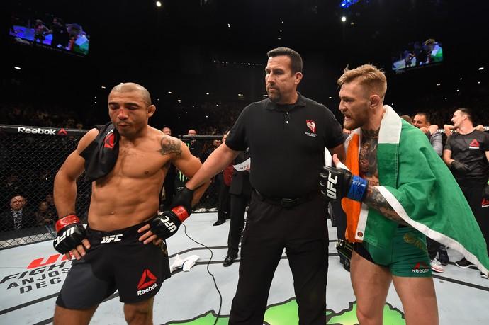 Aldo perdeu o cinturão dos pesos-penas para McGregor. Foto: UFC/Divulgação