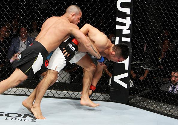 Nocaute de Brandão sobre Kikuno no Japão. Foto: UFC/Divulgação