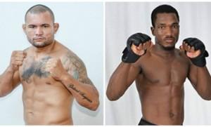 James (esquerda) defende cinturão contra Iamik Furtado. Foto: Arquivo Pessoal/Divulgação
