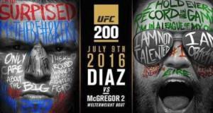 Cartaz de revanche McGregor x Diaz. Foto: Divulgação