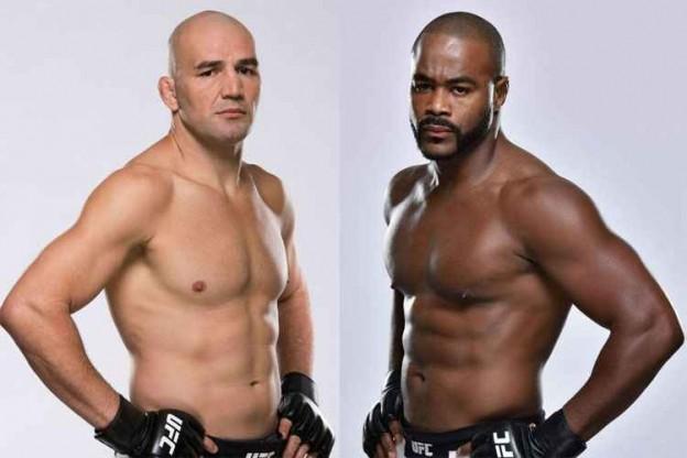 Luta principal: Glover (esquerda) x Evans. Foto: Divulgação