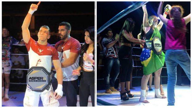 Os grandes campeões da noite, JV e Marília (direita). Fotos: Arquivo Pessoal