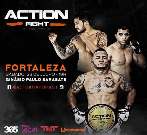 Arlen Benks, James Silveira e Marcos Maju são algumas das atrações do Action Fight. Foto: Divulgação