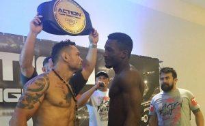 James Silveira (esquerda) e Iamik fazem a luta principal da noite. Foto: Reprodução da Web