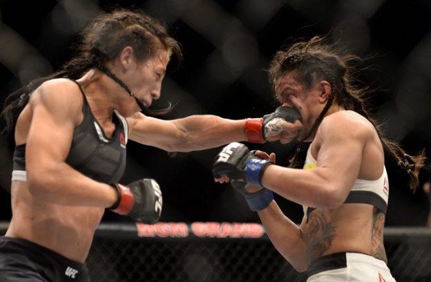 Gadelha foi mais contundente nos golpes. Foto: UFC/Divulgação