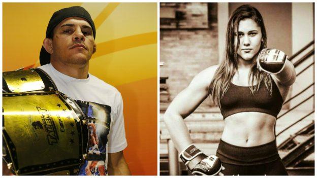 No Chance (esquerda) e Ilara tem lutas marcadas no exterior. Fotos: Fábio Lima/OPOVO e Luan Alexandre / TV Fight