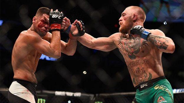 McGregor foi mais consistente e saiu vitorioso. Foto: UFC/Divulgação