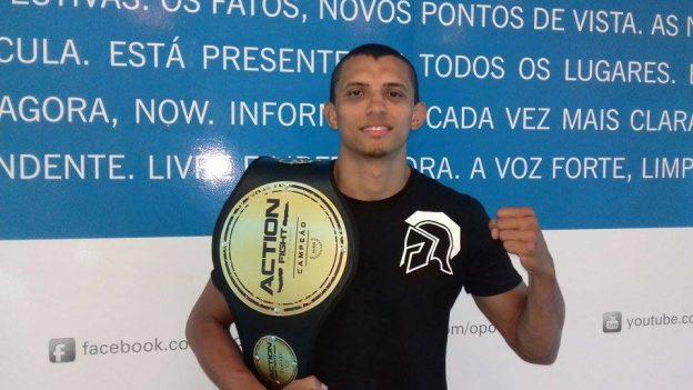Maju conquistou o cinturão do Action Fight no último dia 23 de julho. Foto: Bruno Balacó\O POVO