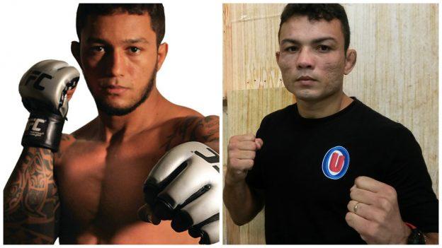 Arlen (esquerda) x Jamil vale cinturão. Fotos: Divulgação/Bruno Balacó/O POVO