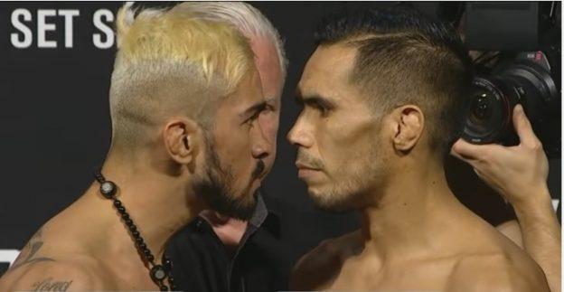 Pepey tentou intimidar o seu adversário com o olhar. Foto: Reprodução