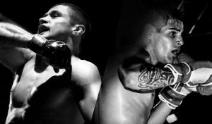 Foto de divulgação do combate entre Andrezinho (esquerda) e Theo.