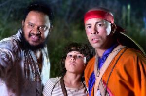 Igor Jansen (centro) e Haroldo Guimarães (esquerda) roubam a cena no filme