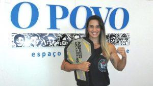 Fanta vem embalada pela conquista do cinturão do Aspera Kicboxing. Foto: Bruno Balacó/O POVO