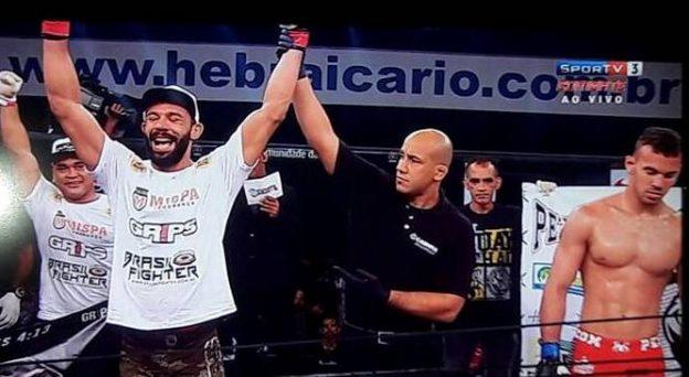 Pimba conquistou a 27ª vitória da carreira. Foto: Reprodução\SporTV