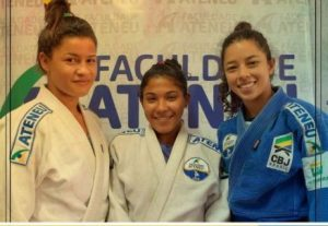 Erika, Yasmim e Emília: as cearenses garantidas na seletiva. Foto: FECJU\Divulgação