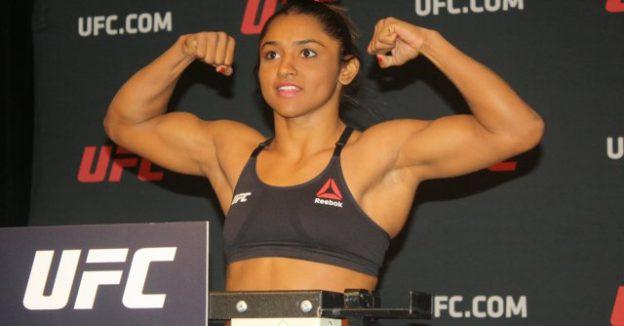 Sucuri, de apenas 23 anos, passou bem na sua 1ª pesagem do UFC. Foto: UFC/Divulgação