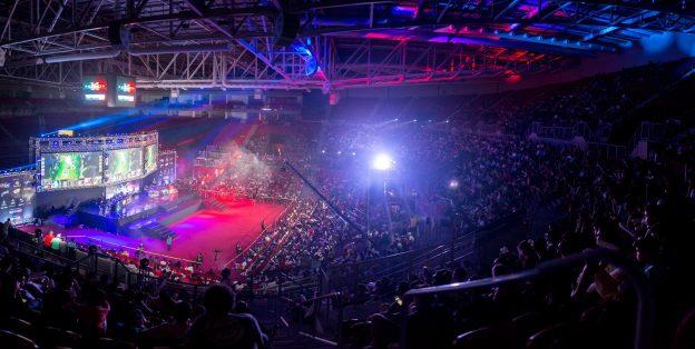 Inaugurado oficial em 2016, o ginásio do CFO já recebeu vários eventos, como jogos de basquete, vôlei, show da banda Scorpions e o Desafio de Invocadores (na imagem): League of legends. Foto: Stephan Eliert