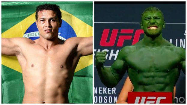 Frankenstein (esquerda) é brasileiro e Hulk vem da Moldávia. Foto: UFC/Divulgação