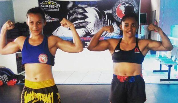 Maria Silva (e) e Viviane Sucuri: parceria nos treinos e na vida. Foto: Arquivo Pessoal