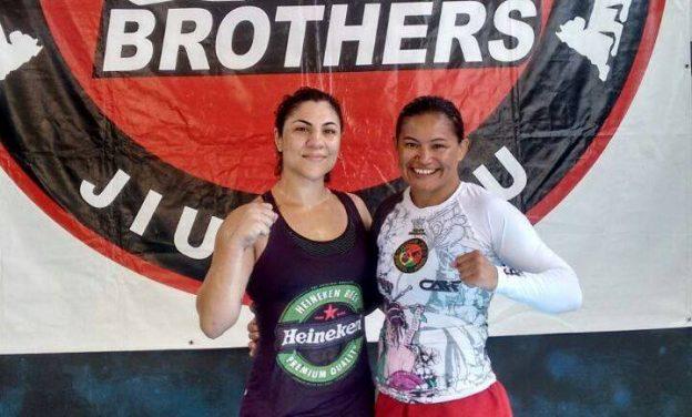 Os treinos entre Bethe e Rosy estão sendo realizados na sede da Pitbull Brothers, em Natal. Foto: Arquivo Pessoal
