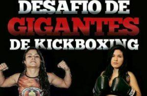 Banner de uma das lutas principais:  Raiana x Cris. Foto: Divulgação
