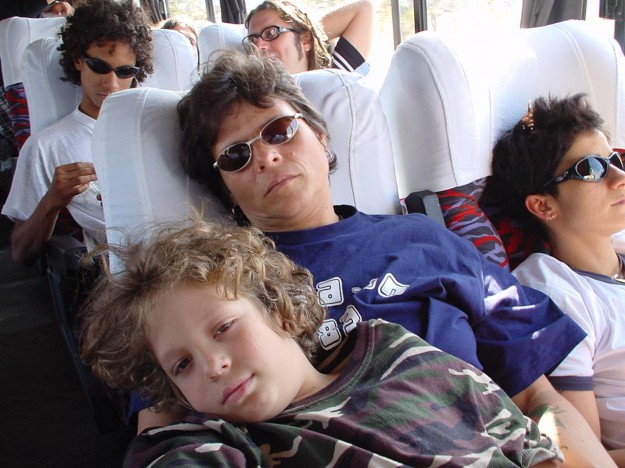 Cássia com o filho Francisco, o Chicão