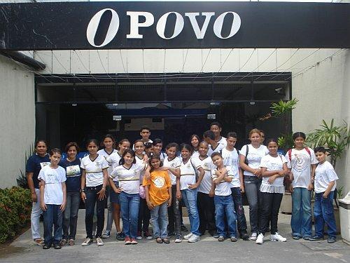 Escola José Eduardo de Sousa visita O POVO