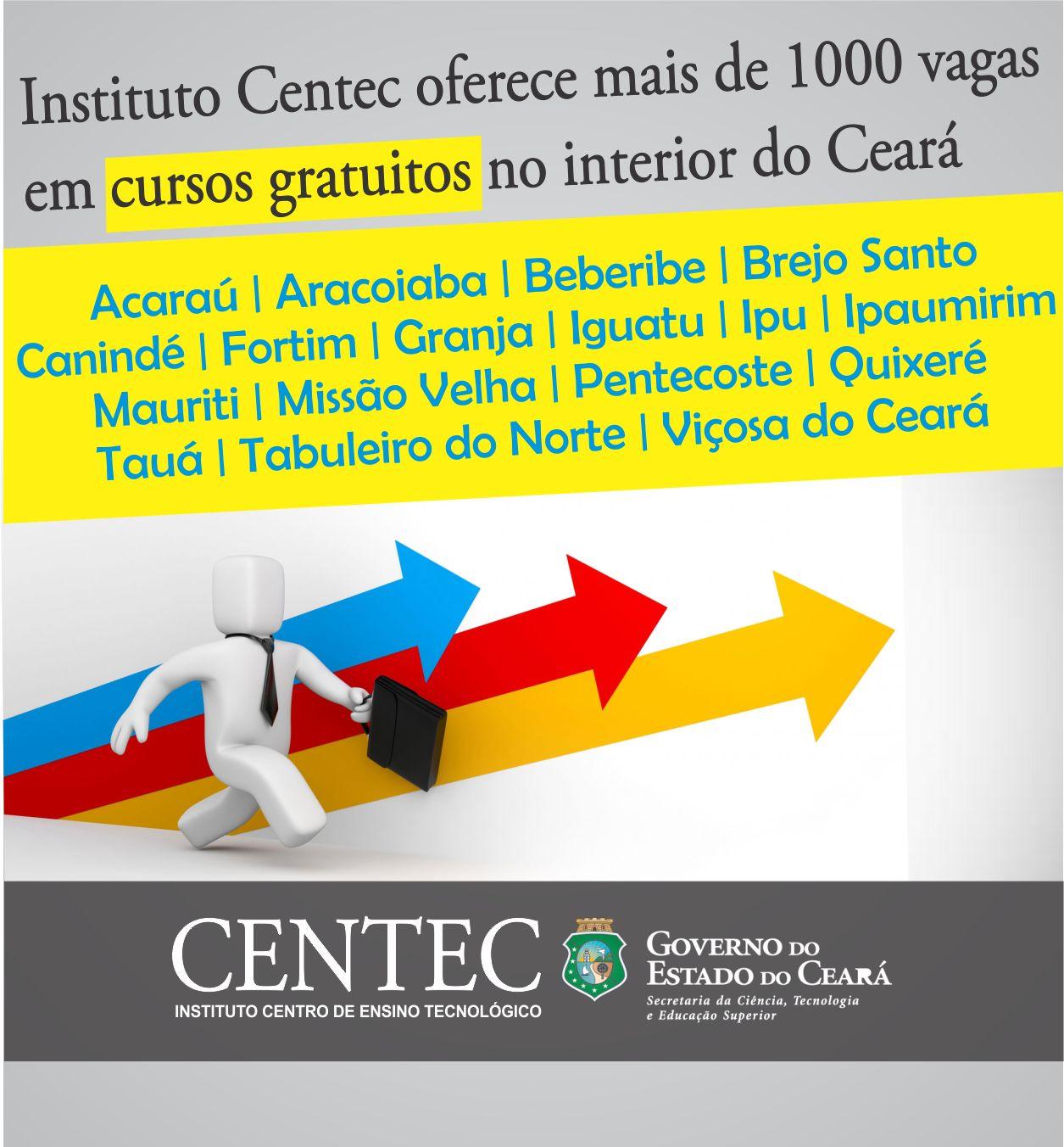 ee243eb2f63 Instituto Centec oferece mais de 1000 vagas em cursos gratuitos no ...