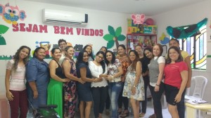 Equipe docente e gestora da Escola Creche Castelinho Vermelho