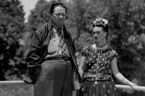 Fotografia de Diego Rivera e Frida Kahlo