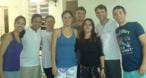 Fisioterapeutas João Neto, Fátima, Viviane, Klaus, profesora Márcia, Meudo e João Filho.