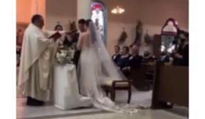 Nervoso com a cerimônia, noivo promete ser infiel durante votos de casamento