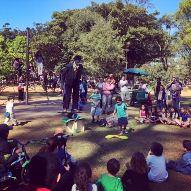 Ibirapuera com crianças