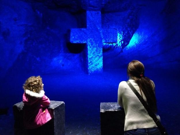 catedral del sal com crianças