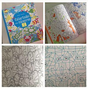 livro de colorir usborne