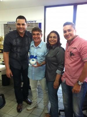 Adriano Matos (O POVO), Ricardo Casas (Dafonte), Micheline Santos  (O POVO) e Cláudio Amaral  (O POVO)