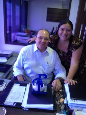 Antônio Oliveira (Mudilar Empreendimentos Imobiliários) e Priscilla Moraes (O POVO)