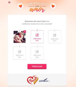 Homenagem com Amor - app Amorela 2