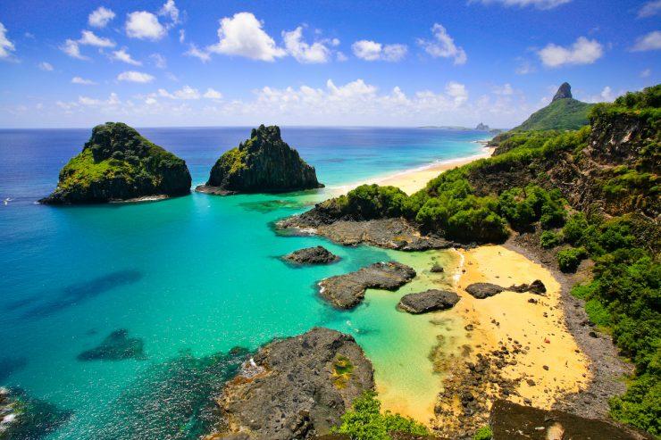O arquipélago de Fernando de Noronha ficou fechado para turismo por 5 meses por conta da pandemia de ocvid-19. (Foto: reprodução).